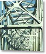 Arkansas Side Of Helena Bridge 1 Metal Print