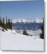 Arkansas Valley From Mount Elbert Colorado In Winter Metal Print