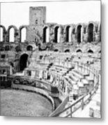Arles Amphitheater A Roman Arena In Arles - France - C 1929 Metal Print