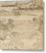 Arles View From The Wheatfields Metal Print