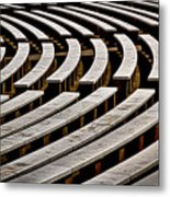Arlington Cemetery Amphitheater Benches #2 Metal Print