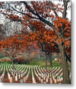 Arlington Cemetery In Fall Metal Print by Carolyn Marshall