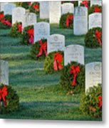 Arlington National Cemetery At Christmas Metal Print