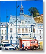 Armada De Chile In Valparaiso-chile  Metal Print