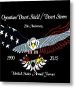 Armed Forces Desert Storm Metal Print