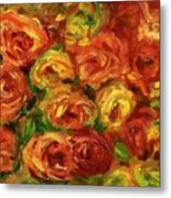 Armful Of Roses 1918 Metal Print