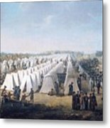 Army Camp In Rows  Metal Print
