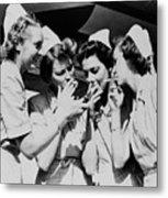 Army Nurses Lighting Metal Print by Everett