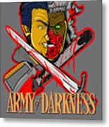 Army Of Darkness Ash Metal Print