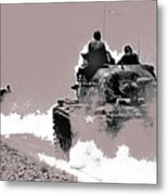 Army Reservists Summer Camp Tanks Death Valley California 1968-2016 Metal Print