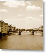 Arno River Florence Metal Print