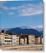 Arno River Pisa Italy Metal Print