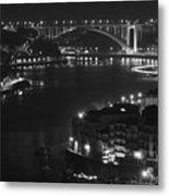 Arrabida Bridge By Night Metal Print