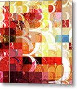 Arraygraphy - Sunset Inferno Triptych Metal Print