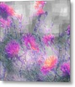 Arrangement In Plaid Metal Print