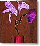 Arrangement In Purple Metal Print