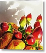 Arrangement On Squash 3 Metal Print by Sarah Loft
