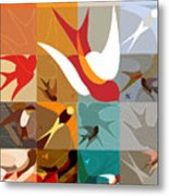 Arraygraphy - Birdies Triptych Part2 Metal Print