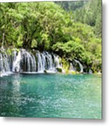 Arrow Bamboo Waterfall Metal Print