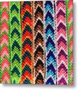 Arrow Pattern Woven Bracelets Metal Print