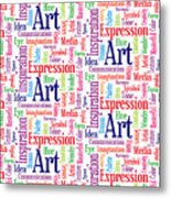 Art And Inspiration Pattern Metal Print