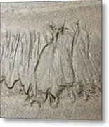 Art Created By Nature On Sand  Metal Print