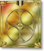 Art Deco Brass 3 Metal Print