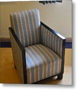 Art Deco Chair Metal Print