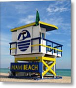 Art Deco Lifeguard Stand Metal Print