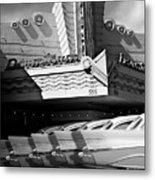Art Deco Movie Theatre And Chevrolet Belair Metal Print