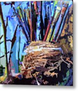 Art In A Nest Metal Print