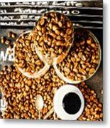 Art In Commercial Coffee Metal Print