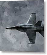 Art In Flight F-18 Fighter Metal Print by Aaron Lee Berg