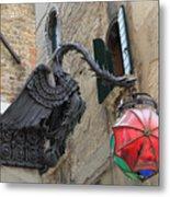 Art Nouveau Dragon In Marzaria Venice Italy Metal Print
