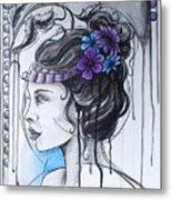 Art Nouveau Girl 1 Metal Print