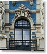 Art Nouveau In Riga Metal Print