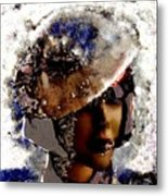 Art Vintage She Fragmented Metal Print