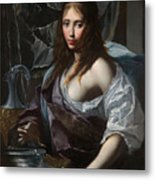 Artemisia Prepares To Drink The Ashes Of Her Husband Mausolus    Metal Print