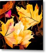 Artful Maple Leaves Metal Print