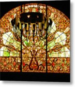 Artful Stained Glass Window Union Station Hotel Nashville Metal Print by Susanne Van Hulst