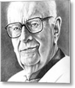 Arthur C. Clarke Metal Print