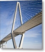 Arthur Ravenel Jr. Bridge In Charleston South Carolina Metal Print