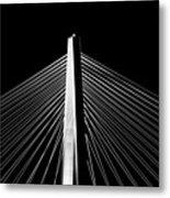 Arthur Ravenel Jr. Bridge Lines Metal Print