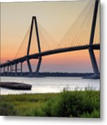Arthur Ravenel Jr. Bridge Sunset Metal Print