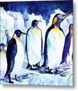 Arctic Penquins Metal Print