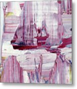 Artic Sailing Metal Print