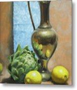 Artichoke And Lemons Metal Print