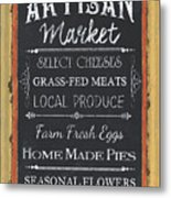 Artisan Market Sign Metal Print