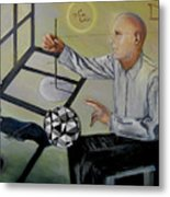 Artist And Muse Metal Print