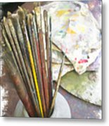 Artist Brushes  Metal Print